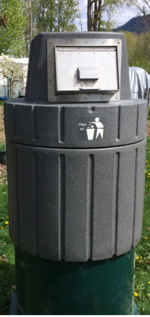 Features In Ground Trash Systems Amp Recycling Containers