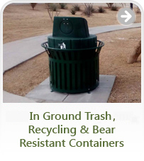 In Ground Trash Systems & Recycling Containers